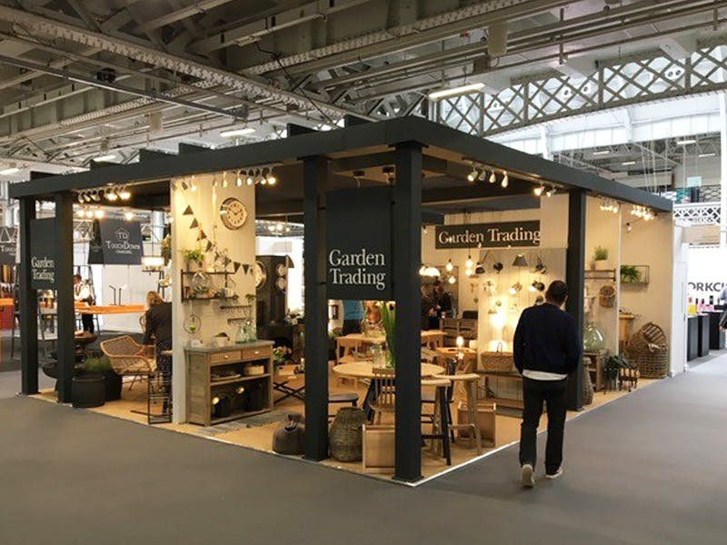 Entrance to Garden trading stand at Top Drawer London Autumn Winter 2018