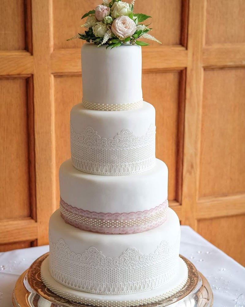 Beautiful wedding cake with