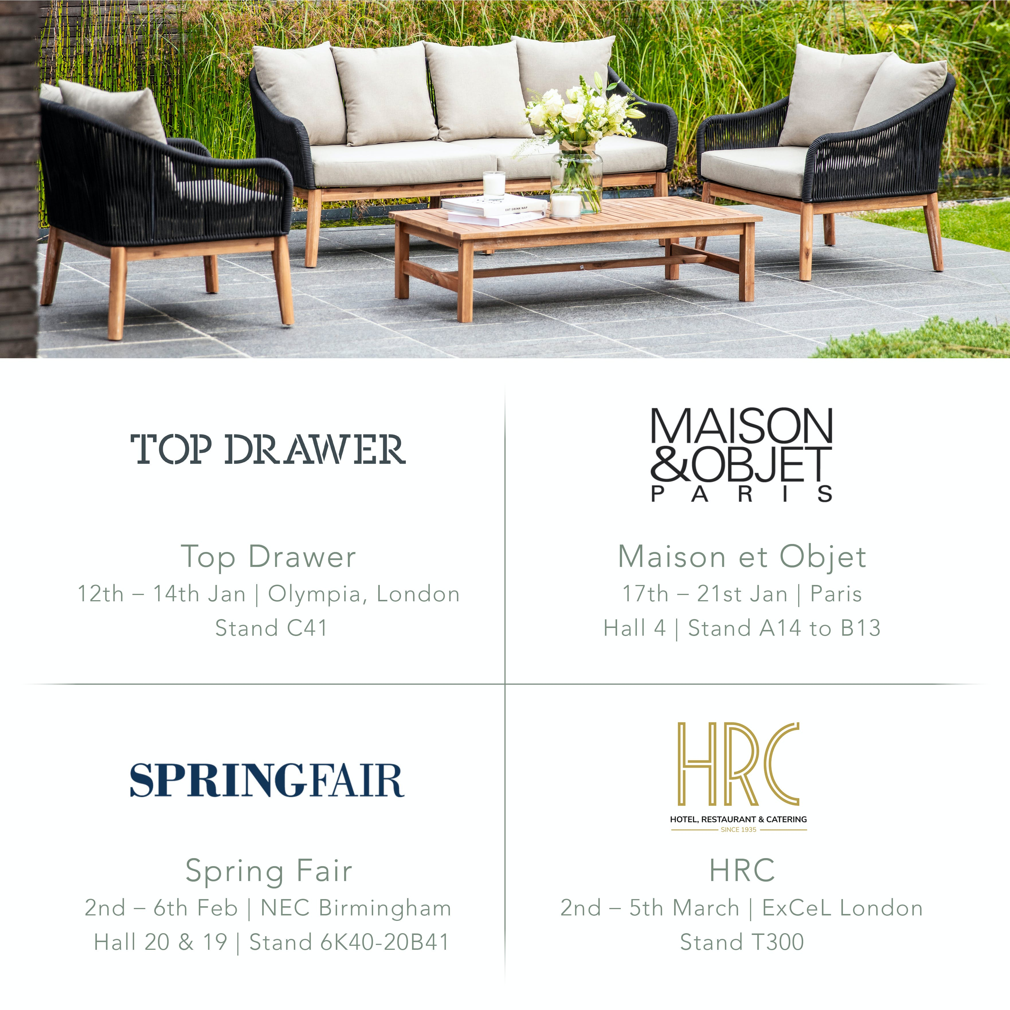 Garden Trading Wholesale SS20 Trade Shows Information