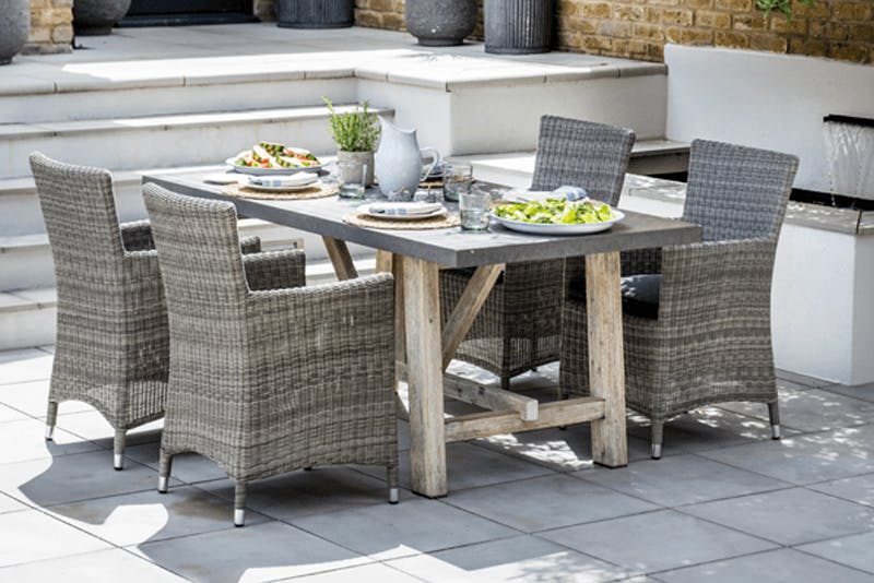 Rattan chairs and Chilson table