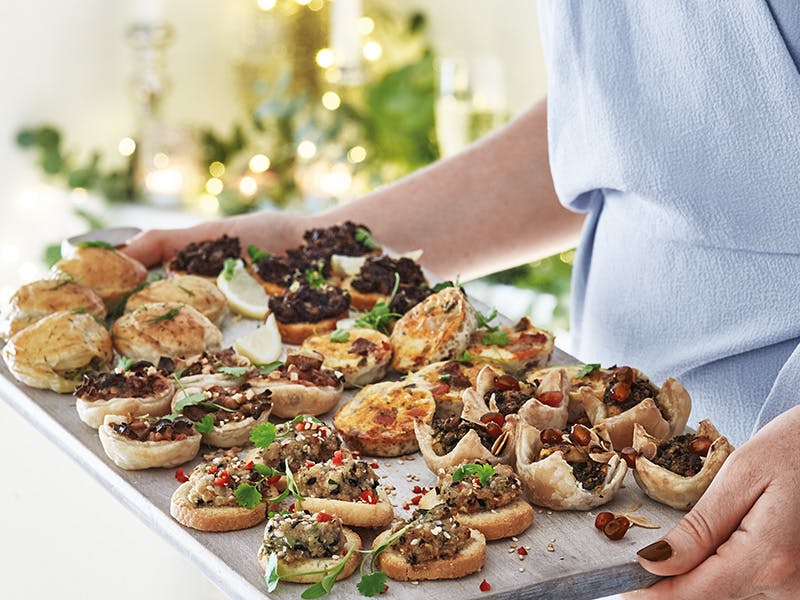 Christmas Canapes from COOK on a serving platter