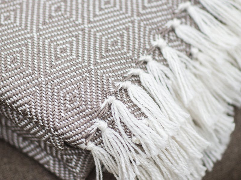 Close up of Diamond blanket in Grey