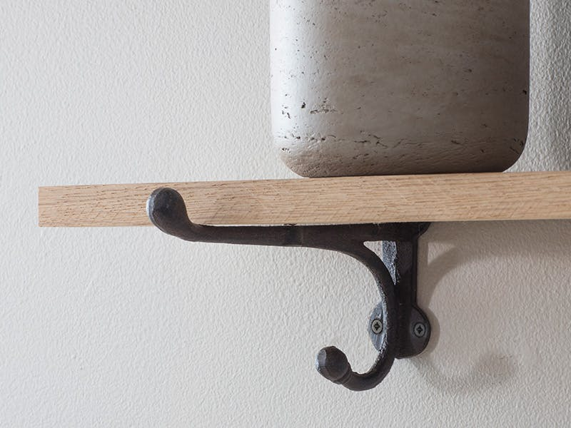 Detail shot of Cast Iron Bracket Shelf
