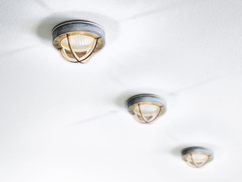Three Chamonix Spotlights in ceiling