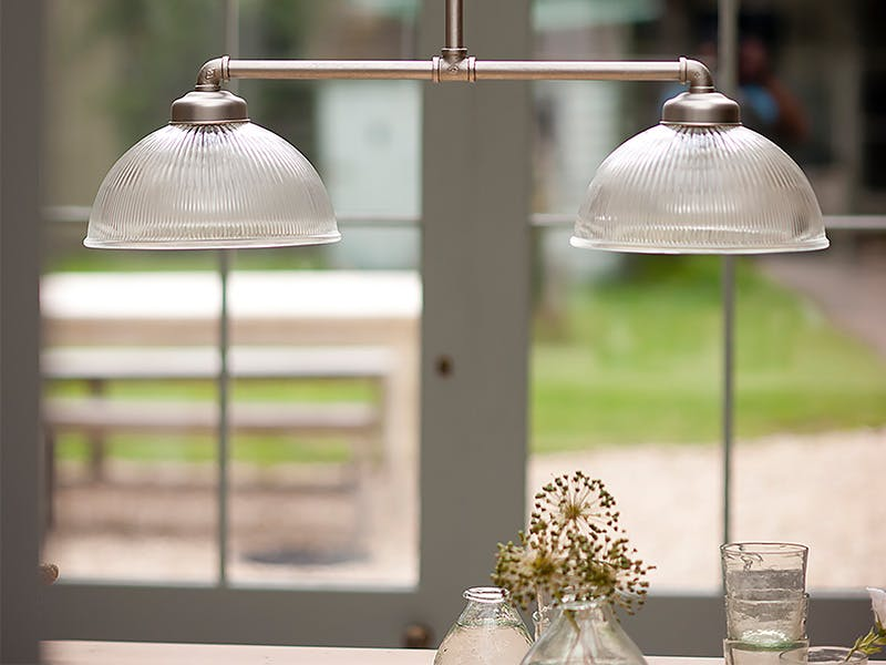 Double Paris Pendant Light above kitchen table