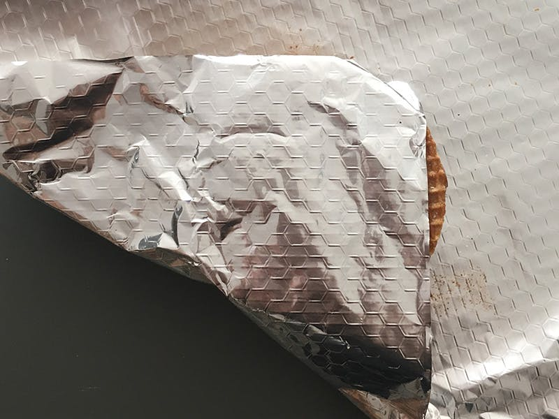 S'more wrapped in foil ready to be placed on grill