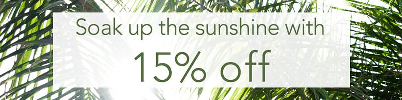 Heatwave offer banner for 15% off