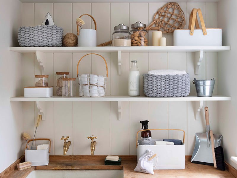 Calm and Clutter-free utility room