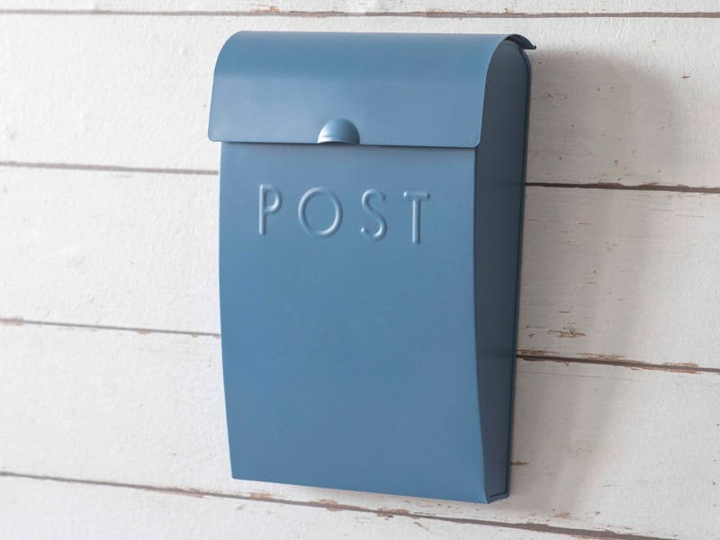 Post Box in Lulworth Blue