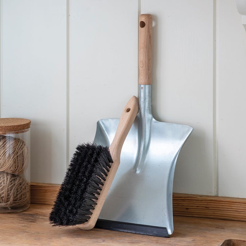Galvanised Steel Dustpan & Brush