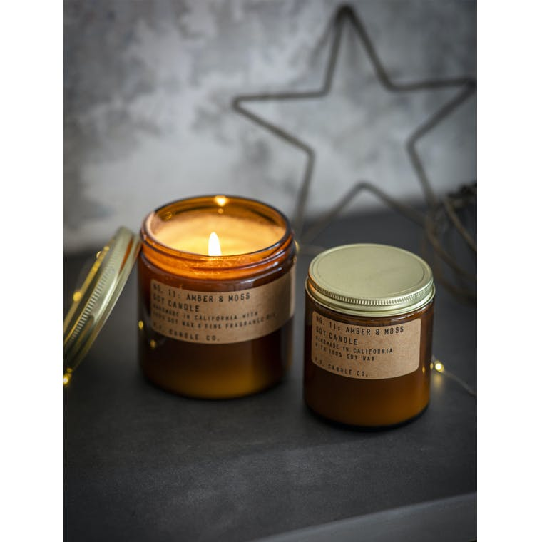 Garden Trading Medium Amber and Moss Candle