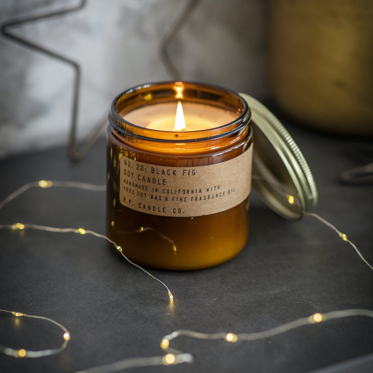 Black Fig Glass Candle in Small or Large  | Garden Trading