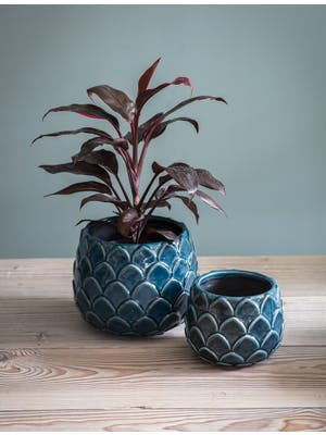 Artichoke Pot in Teal