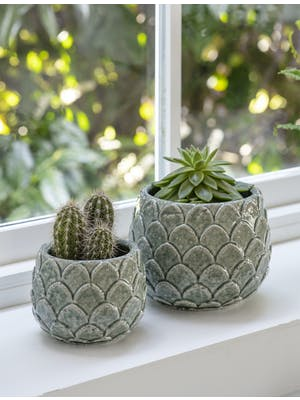 Artichoke Pot in Aqua