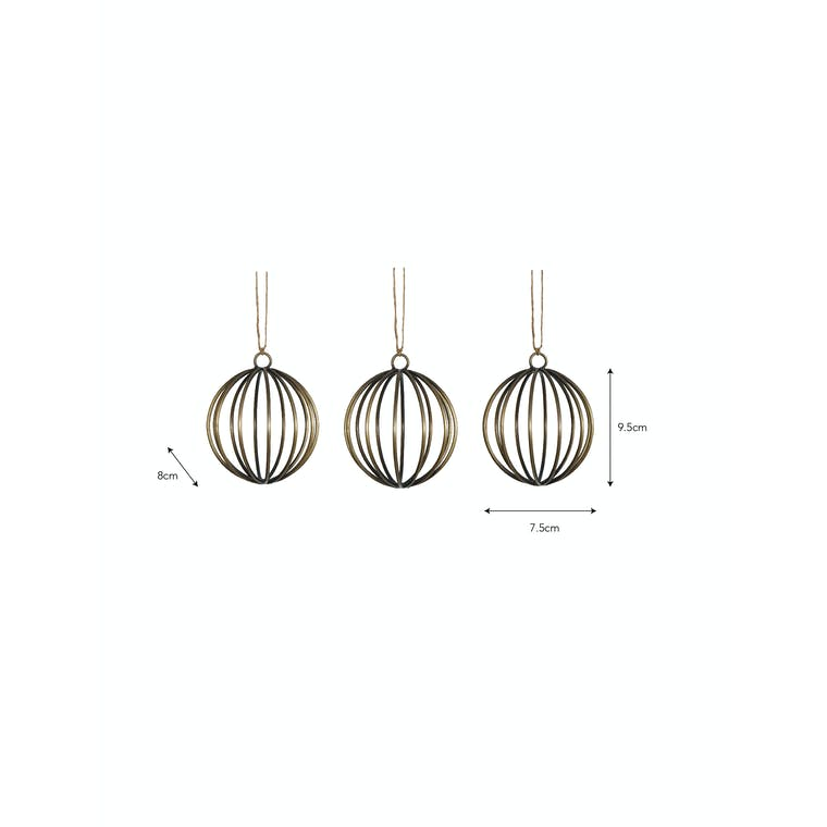 Wirework Set of 4 Cromwell Baubles | Garden Trading