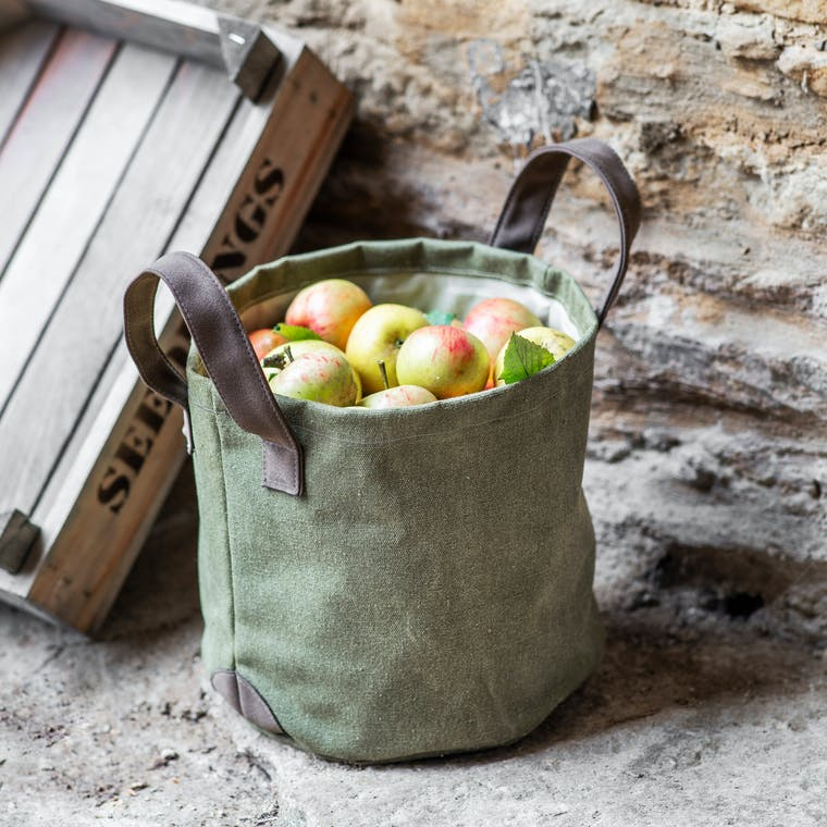 Canvas Garden Storage Bag in Khaki | Garden Trading