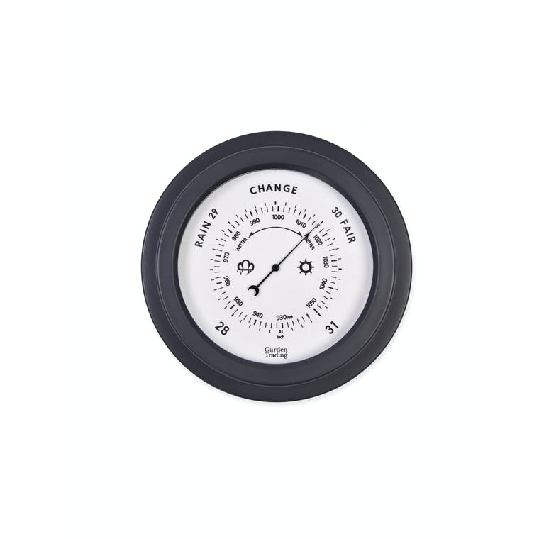 Steel Tenby Barometer in Black, White or Blue  | Garden Trading