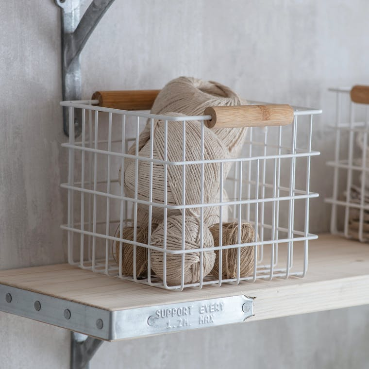 Wire Portland Basket in Small, Medium or Large | Garden Trading