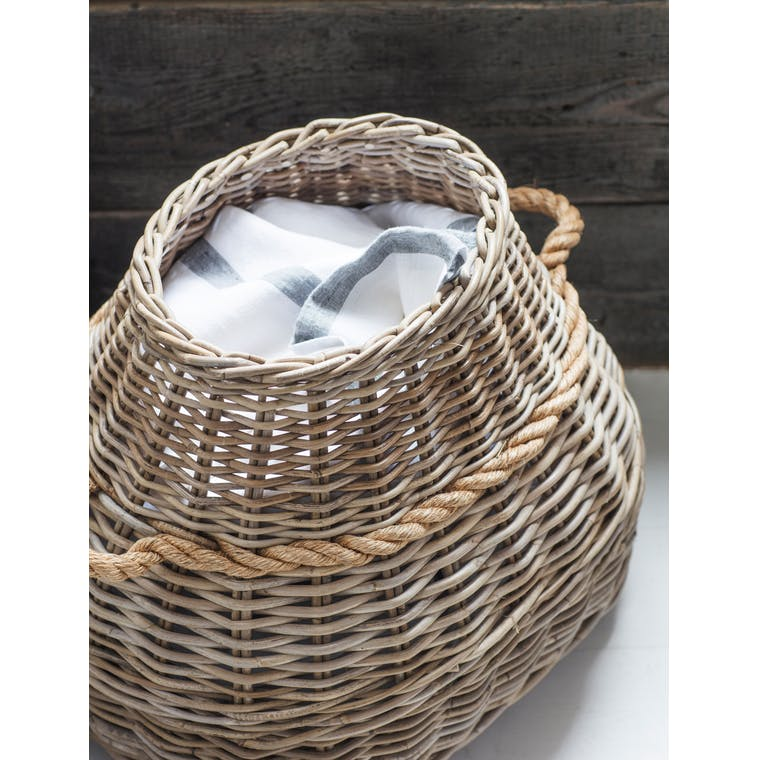 Rattan Bottle Laundry Basket  | Garden Trading