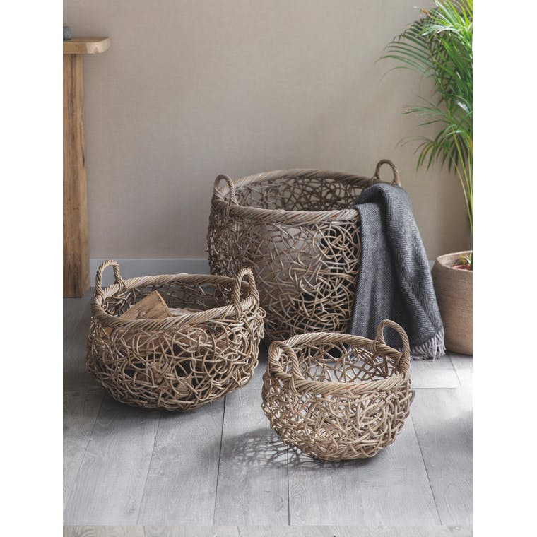 Garden Trading Set of 3 Tangled Weave Baskets