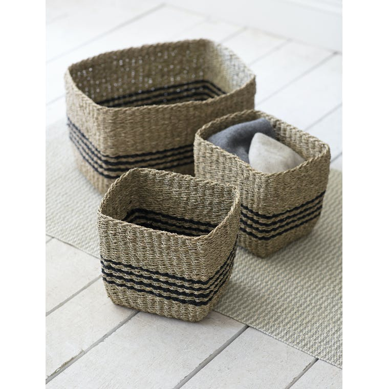 Garden Trading Set of 3 Striped Storage Baskets