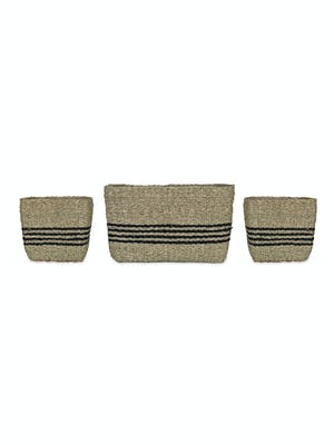 Set of 3 Striped Storage Baskets