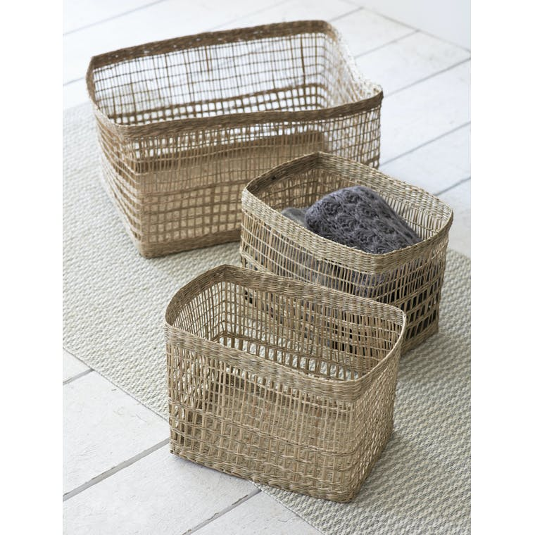 Garden Trading Set of 3 Mixed Weave Storage Baskets