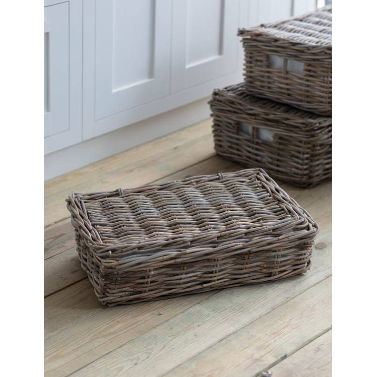 Bembridge Basket with Lid, Small by Garden Trading