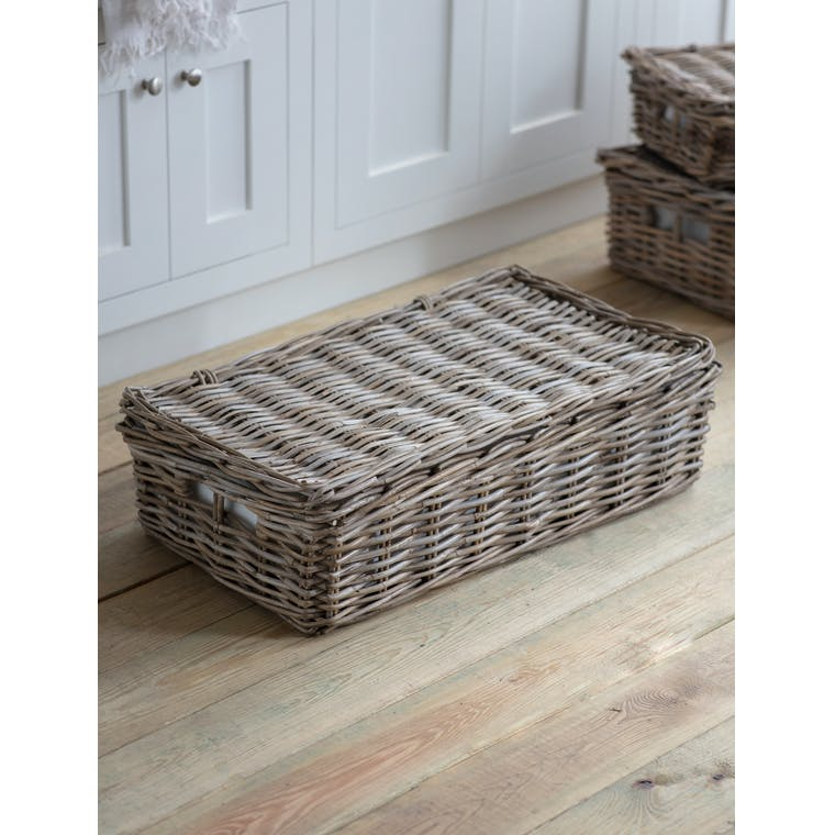 Bembridge Basket with Lid, Large by Garden Trading