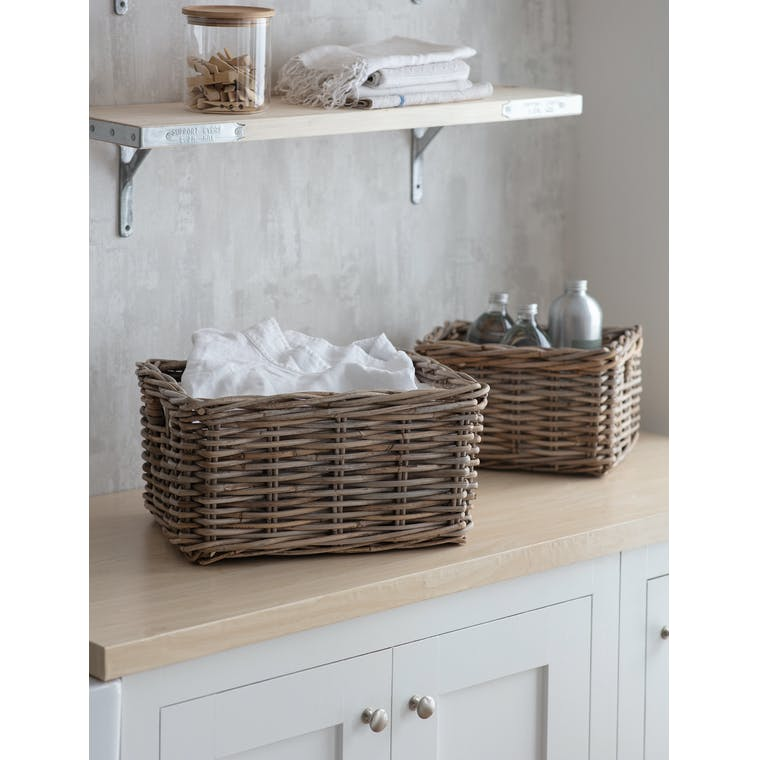 Rattan Bembridge Storage Basket in Small or Large | Garden Trading
