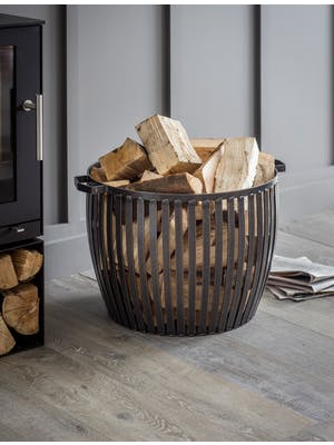 Lodge Fireside Log Basket
