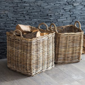Set of 2 Square Baskets