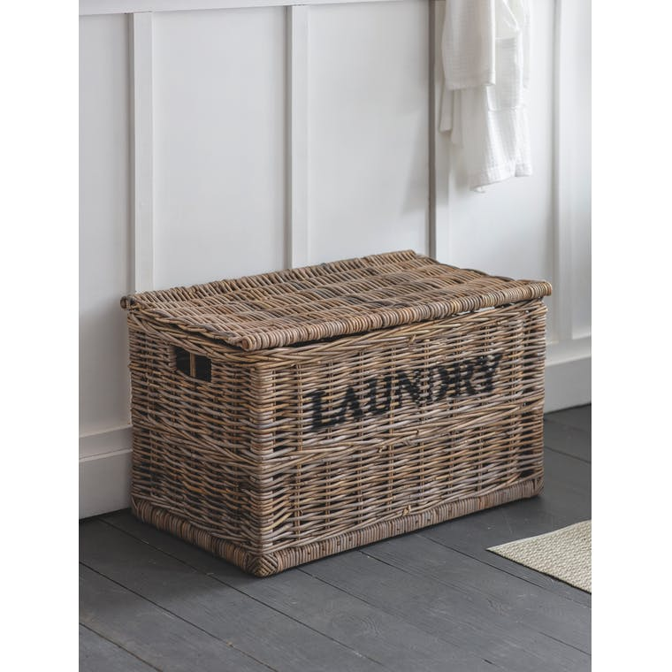 Rattan Dark and Lights Laundry Chest | Garden Trading