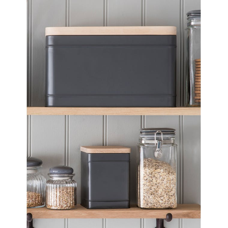 Steel Borough Bread Box in Grey | Garden Trading