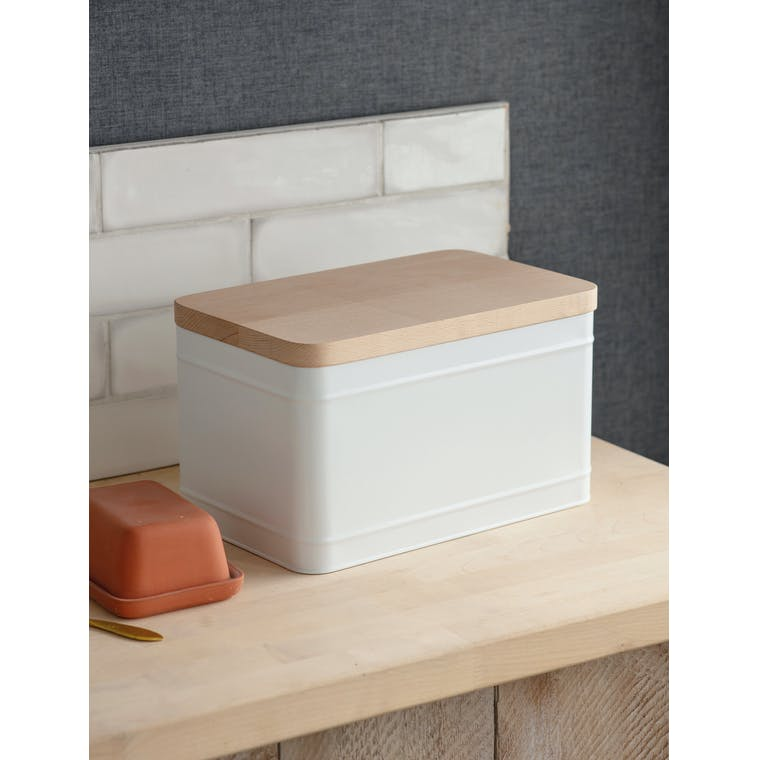 Garden Trading Borough Bread Bin in Lily White