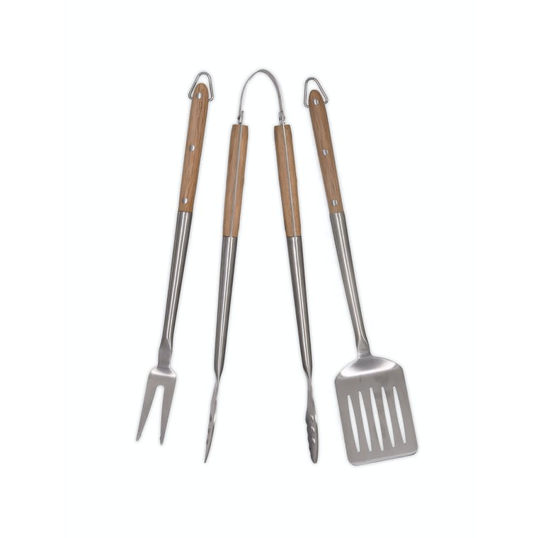 Stainless Steel Set of 3 BBQ Tools | Garden Trading