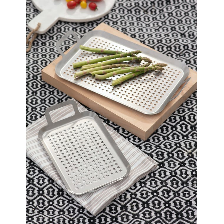 Set of 2 BBQ Trays by Garden Trading