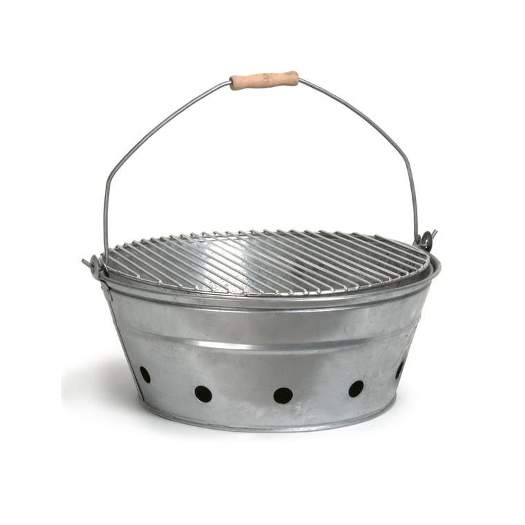 Galvanised Rock Barbecue  | Garden Trading