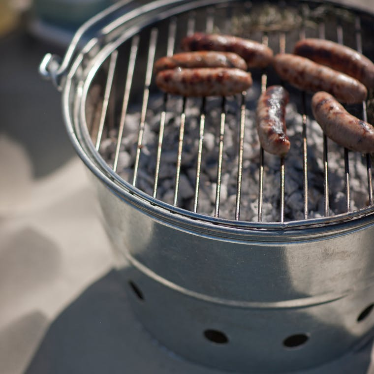 Galvanised Whitstable Barbecue    Garden Trading