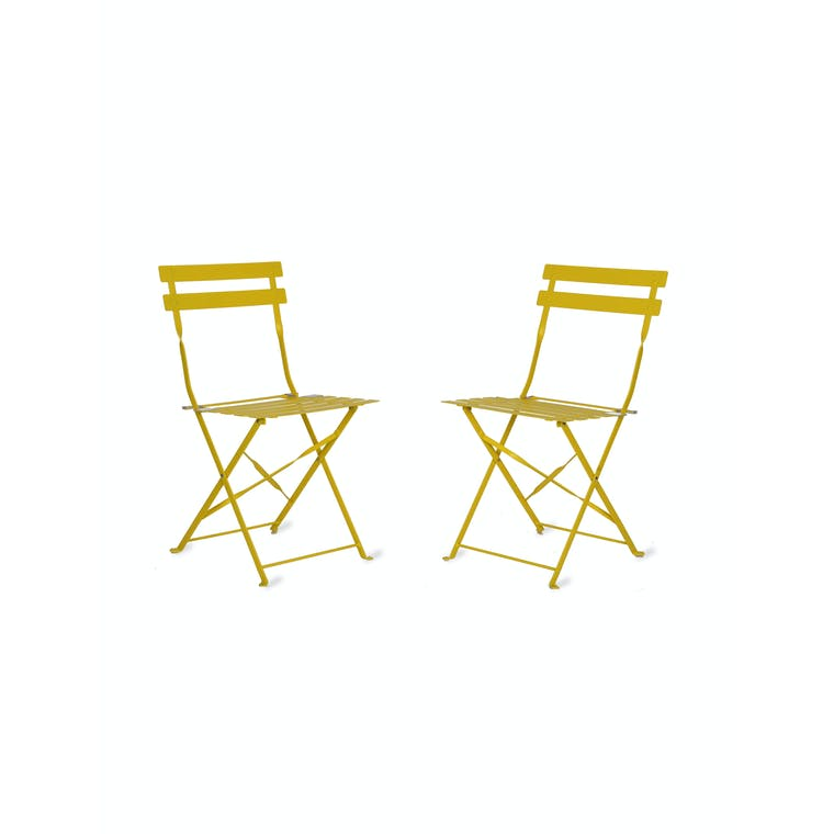 Set of 2 Chairs in Neutral, Green, Blue or Black | Garden Trading