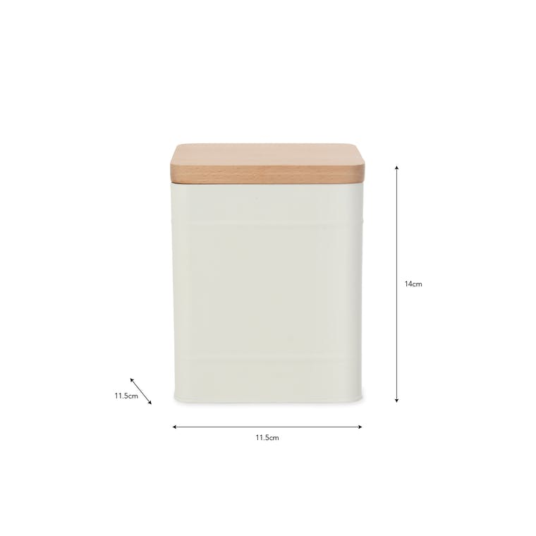 Steel Borough Canister Small in White or Grey | Garden Trading