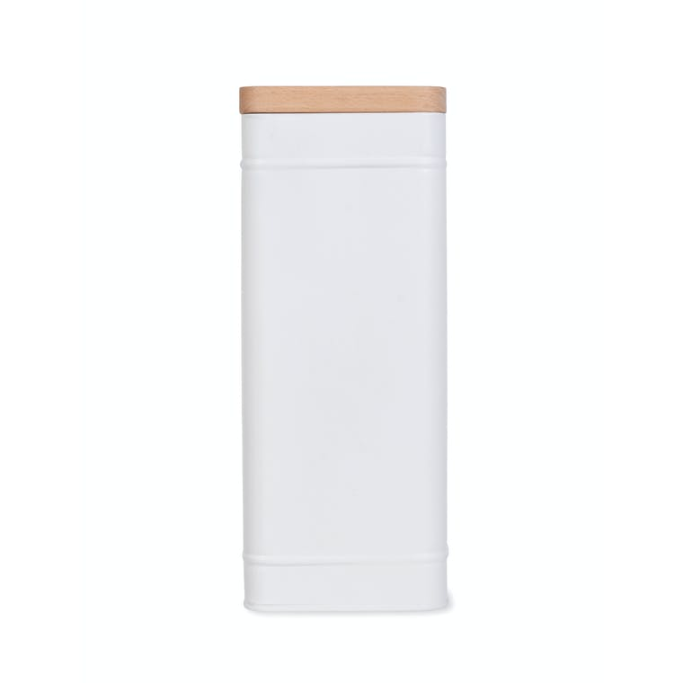Steel Borough Tall Canister in White or Black | Garden Trading