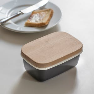 Butter Dish with Wooden Lid