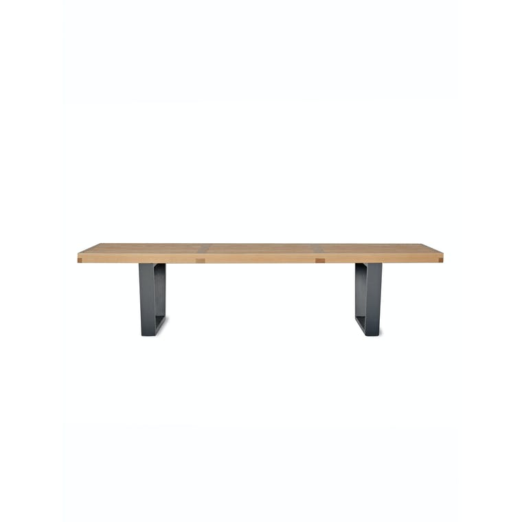 Wooden Linear Bench in Black | Garden Trading