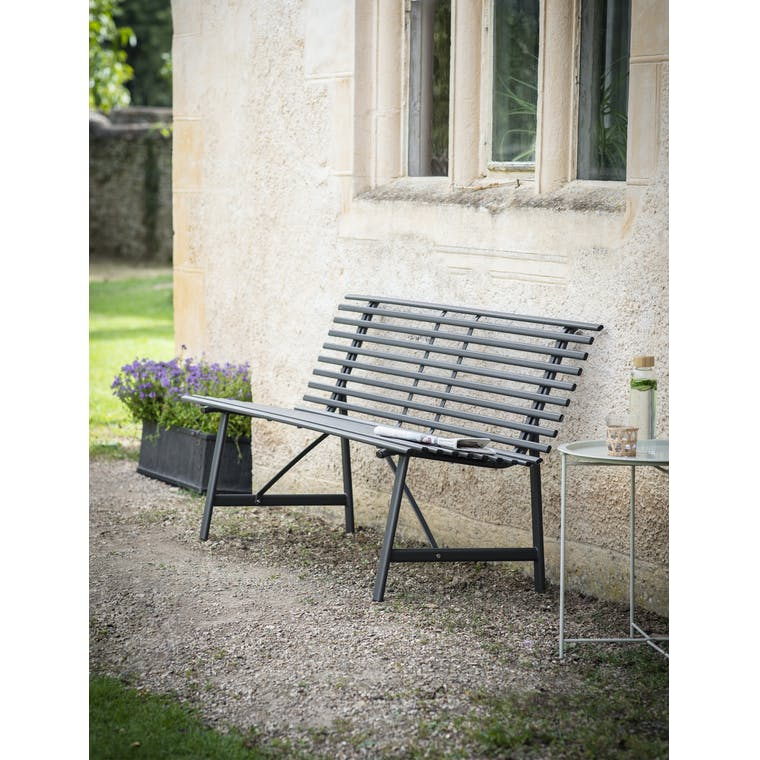 Garden Trading Richmond Bench in Carbon - Steel