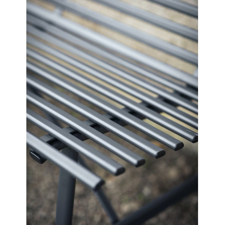 Steel Richmond Bench in Black | Garden Trading
