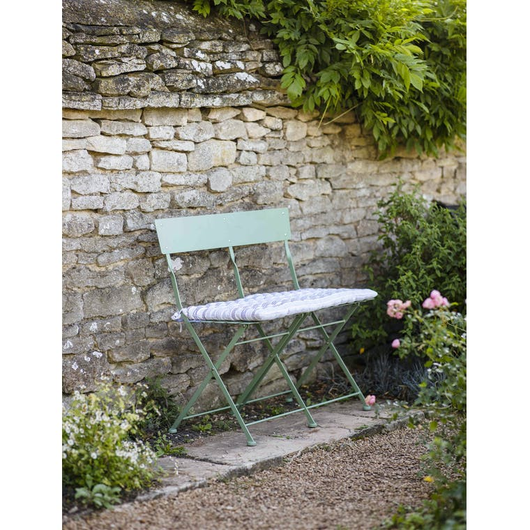 Outdoor Folding Bistro Bench in White or Green | Garden Trading