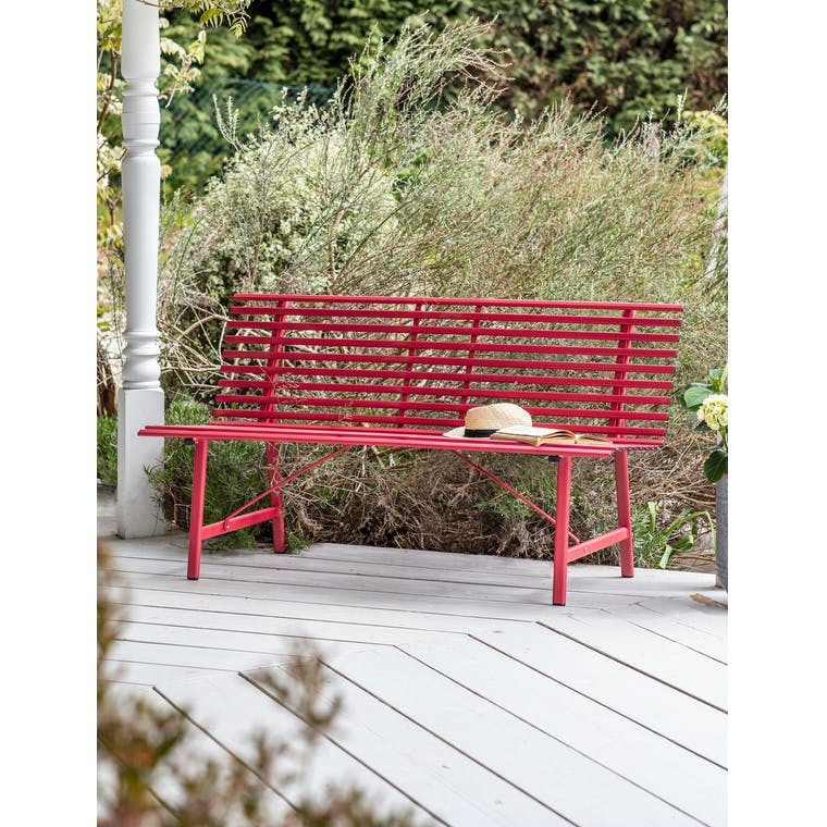 Richmond Bench in Pomegranate by Garden Trading