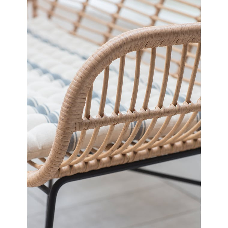 All-weather Bamboo Hampstead Bench | Garden Trading