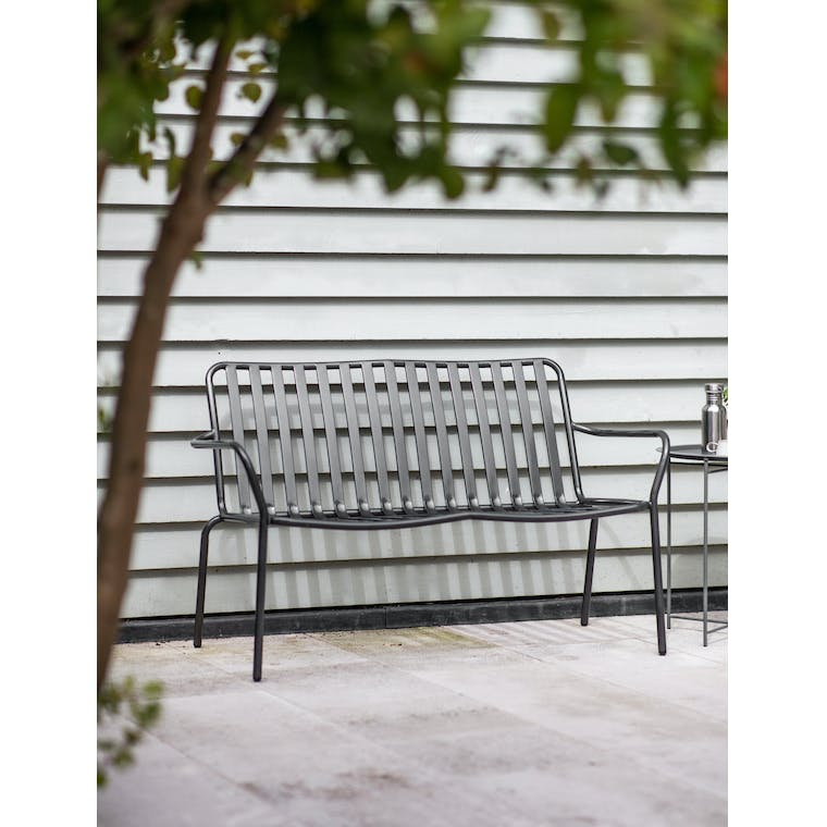 Steel Farringdon Outdoor Garden Bench | Garden Trading
